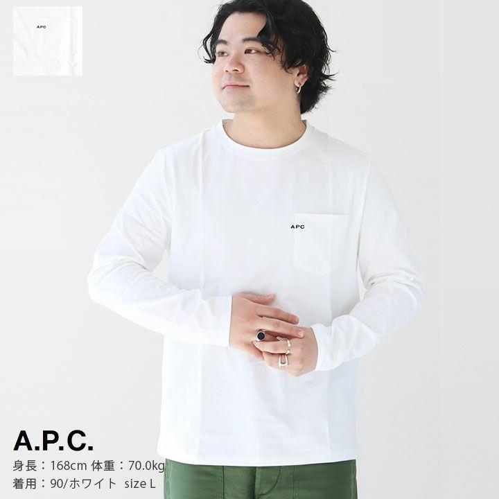 A.P.C.(アーペーセー) 刺繍入りポケット付長袖Tシャツ(25082192702)